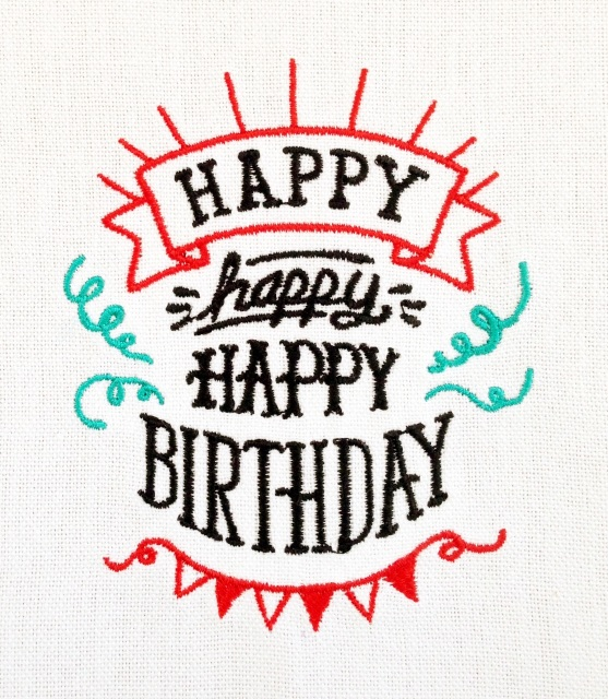 Happy Birthday Kitchen Tea Towel Machine Embroidered Interiors Inside Ideas Interiors design about Everything [magnanprojects.com]