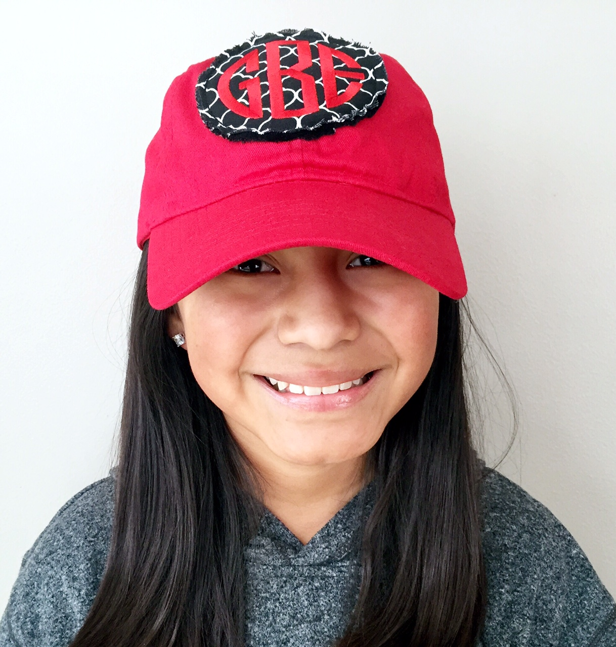 raggy patch monogrammed baseball hat